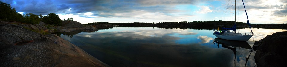 Panoraama Ruggskäristä etelään.